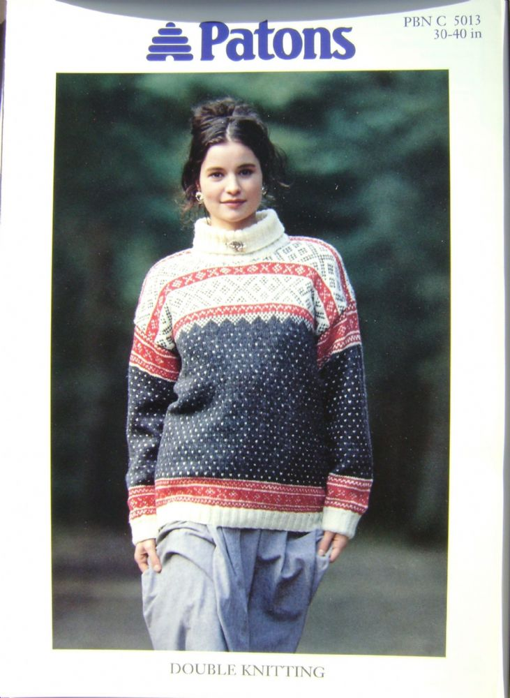 Patons Knitting Pattern 5013